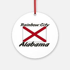 Rainbow City Alabama Ornament (Round)