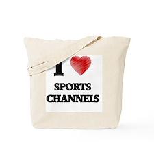 I love Sports Channels Tote Bag