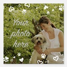 "Custom Pet Photo Square Car Magnet 3"" x 3"""