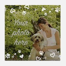 Custom Pet Photo Tile Coaster