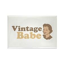 Vintage Babe Rectangle Magnet