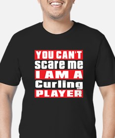 I Am Curling Player Men's Fitted T-Shirt (dark)