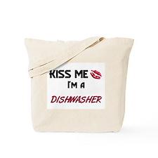 Kiss Me I'm a DISHWASHER Tote Bag
