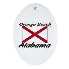 Orange Beach Alabama Oval Ornament