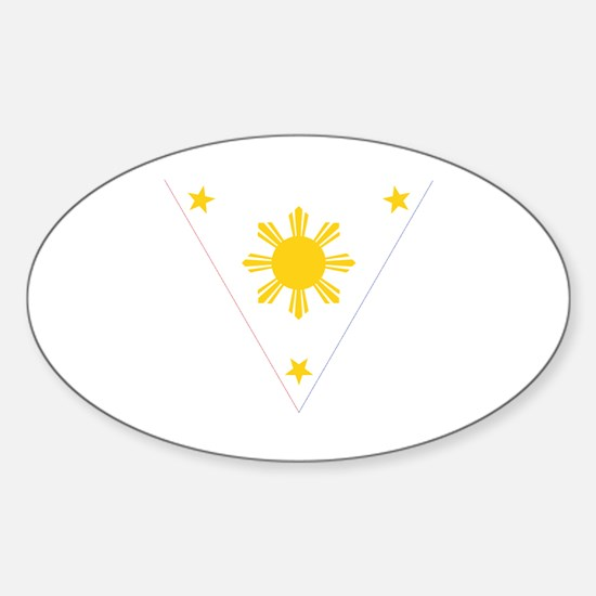 Unique Philippines flag Sticker (Oval)