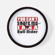 I Am Bull Riding Player Wall Clock