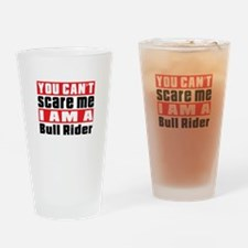 I Am Bull Riding Player Drinking Glass