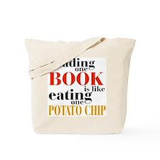 Book & Potato Chip Tote Bag