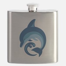 Blue Dolphin Flask