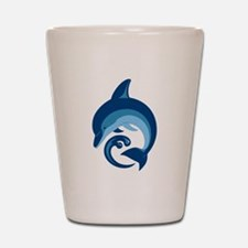 Blue Dolphin Shot Glass