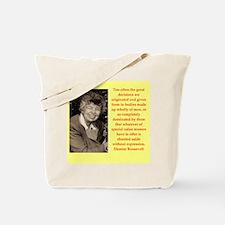 Eleanor Roosevelt quote Tote Bag