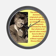 Eleanor Roosevelt quote Wall Clock