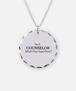 Counselor Necklace Circle Charm