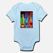 Crazy Talking Heads Infant Bodysuit