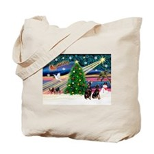 Xmas Magic & Min Pin pr Tote Bag