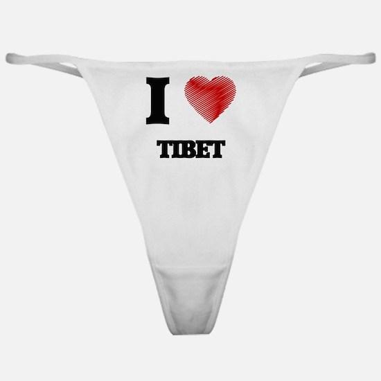 Funny I love tibet Classic Thong