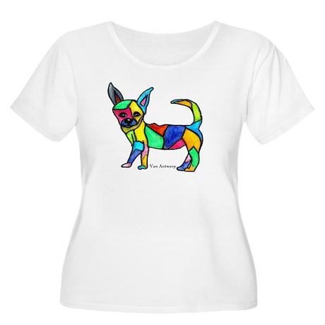 """Chihuahua"" Women's Plus Size Scoop Neck T-Shirt"