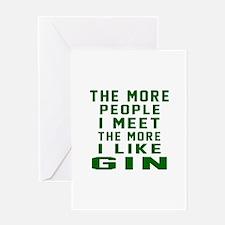 I Like Gin Greeting Card