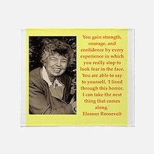 Eleanor Roosevelt quote Throw Blanket
