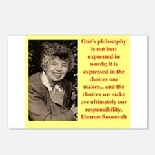 Eleanor Roosevelt quote Postcards (Package of 8)