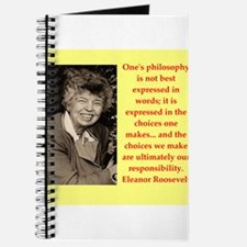 Eleanor Roosevelt quote Journal