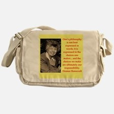 Eleanor Roosevelt quote Messenger Bag
