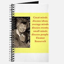 Eleanor Roosevelt quote Journal