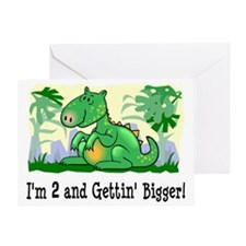 Dinosaur I'm 2 Greeting Card