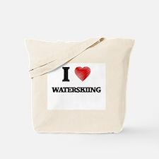 I love Waterskiing Tote Bag