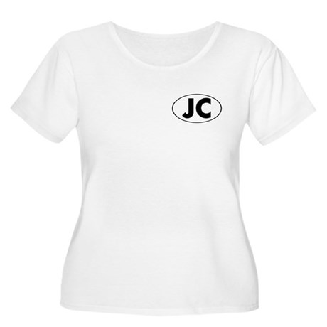 JC Oval Women's Plus Size Scoop Neck T-Shirt