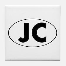 JC Oval Tile Coaster