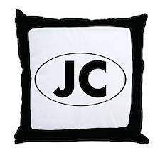 JC Oval Throw Pillow