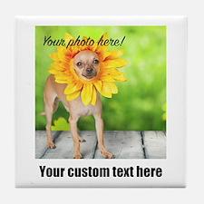 Custom Photo And Text Tile Coaster