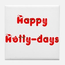 holly days Tile Coaster