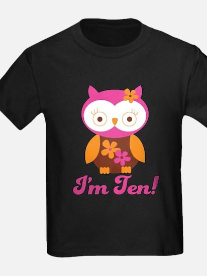 I'm Ten Retro Owl T-Shirt