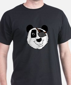 Pirate Panda Head T-Shirt