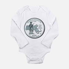 Massachusetts State Quarter Infant Creeper Body Su