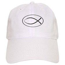 Christian Fish Oval Baseball Cap