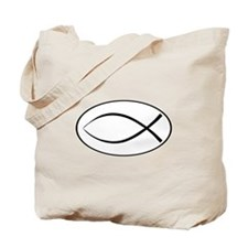 Christian Fish Oval Tote Bag