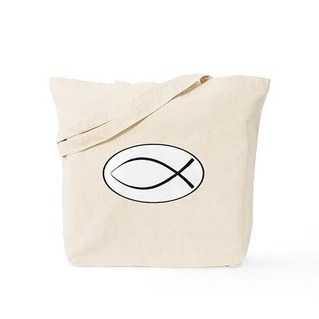Christian Fish Oval Tote Bag