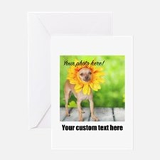 Custom Photo And Text Greeting Cards