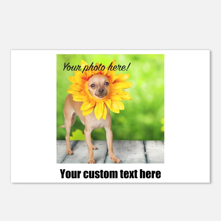 Custom Photo And Text Postcards (Package of 8)
