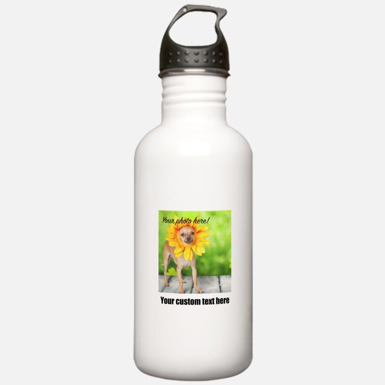 Custom Photo And Text Water Bottle