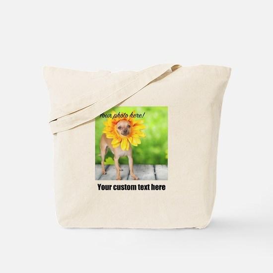Custom Photo And Text Tote Bag