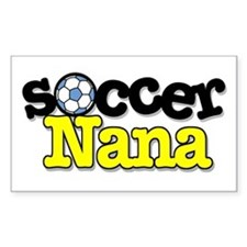 Soccer Nana Rectangle Decal