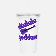 Purple Ukulele Acrylic Double-wall Tumbler