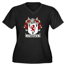 O'Dwyer Coat of Arms Women's Plus Size V-Neck Dark