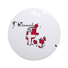 Cool Denmark Ornament (Round)