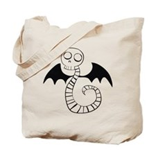 Skeleton Snake Tote Bag