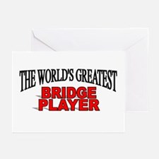 """The World's Greatest Bridge Player"" Greeting Card"
